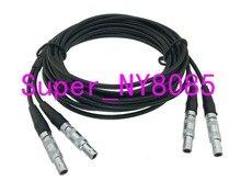 Twin Kristall Kabel 2C5 2C5 FFA.00S C5 Stecker für ultraschall Gleichheit Fehler Detektor 3FT ~ 10M