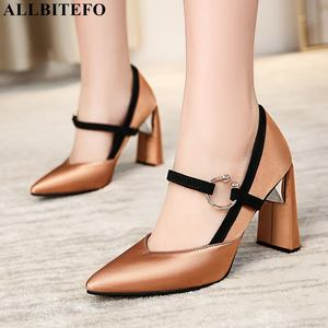 Image 3 - ALLBITEFO size:33 43 pu leather high heels party women shoes sexy women high heel shoes spring office ladies shoes women heels