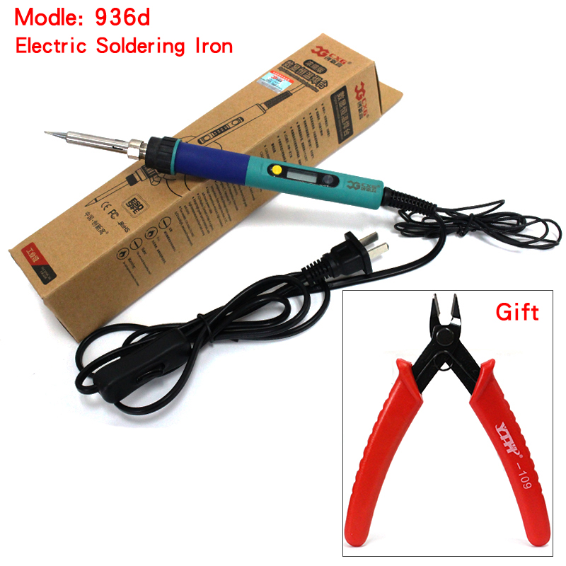 CXG 936d LCD Adjustable Temperature Digital Electric Soldering Station EU Plug Replace HAKKO 936 Soldering Station BEST SELLS HH