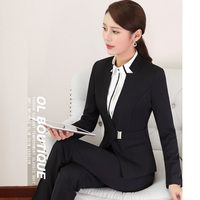 2017 New Formal 2 Two Piece Set Suit For Women Casual Office Business Ol Ladies Work