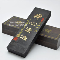 Chinese Traditional Sumi e Ink Sticks Paint Solid Ink For calligraphy And Painting Inkstick Chan Xin Dan Bo Wooden box Qi Yan