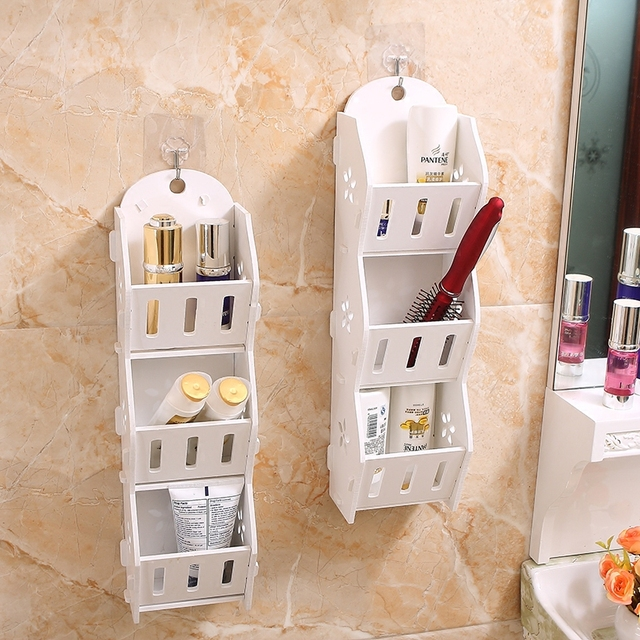three Layer Wall Hanging Storage Box Mobile Phone Storage Rack Carved Wall Storage Rack Wall Sundries Storage Rack Shelf Holder