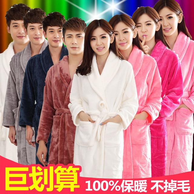 Venda Sólidos New Cashmere Algodão Corduroy Completa Kimono Robes 2016 Moda Feminina Roupão Camisola de Verão Bonito