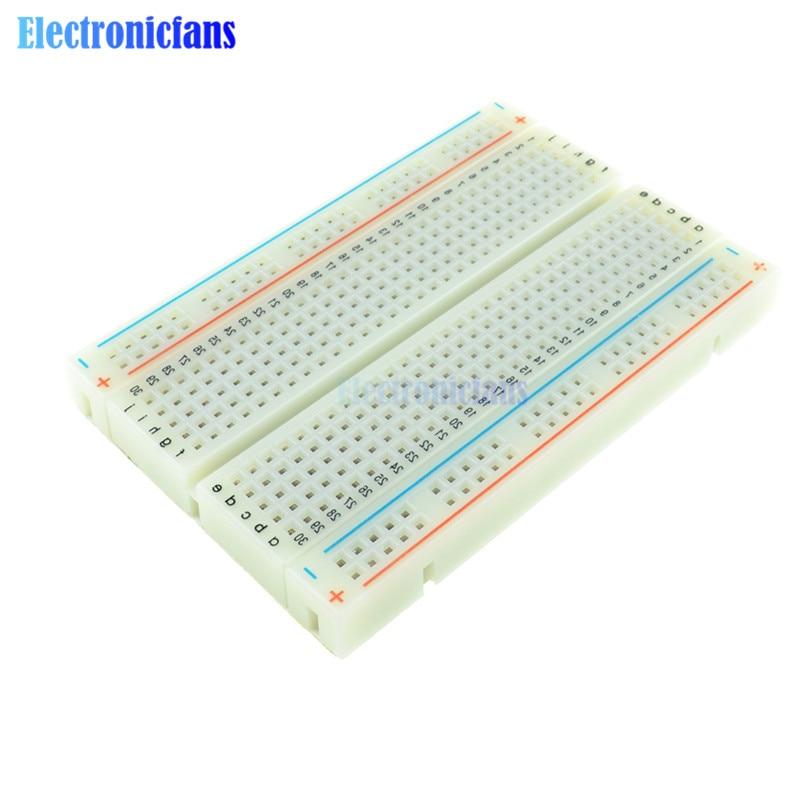 2PCS Mini Solderless Breadboard Bread Board 400 Contacts Available Test Develop