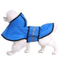 HELLOMOON  Solid Mountaineering Polyester Pet Raincoat Durable Waterproof Breathable Dog Poncho Puppy Rain Jacket