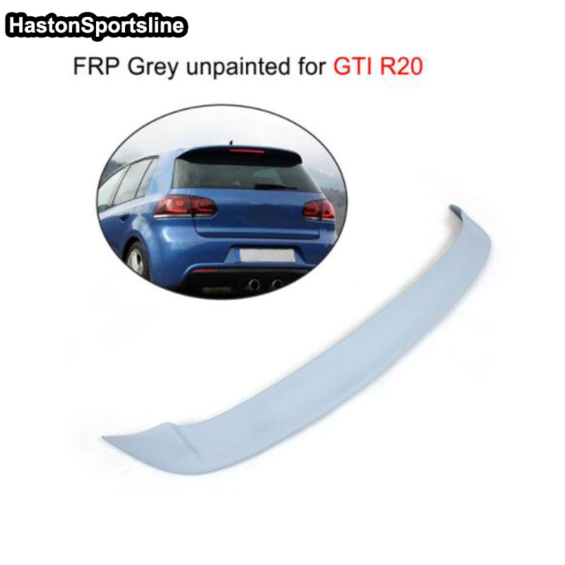 цена на Rear Roof Spoiler Wing Lip Fit For VW Golf 6 MK6 VI GTI & R20 FRP Unpainted Primer 2010-2013 OSIR Style(Only GTI R20)