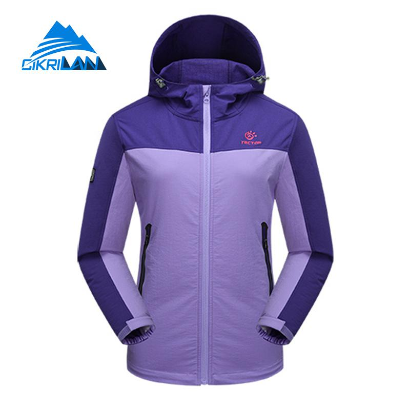 Spring Autumn Camping Hiking Waterproof Outdoor Jacket Women Windbreaker Durable Jaqueta Feminina Climbing Leisure Sport Coat