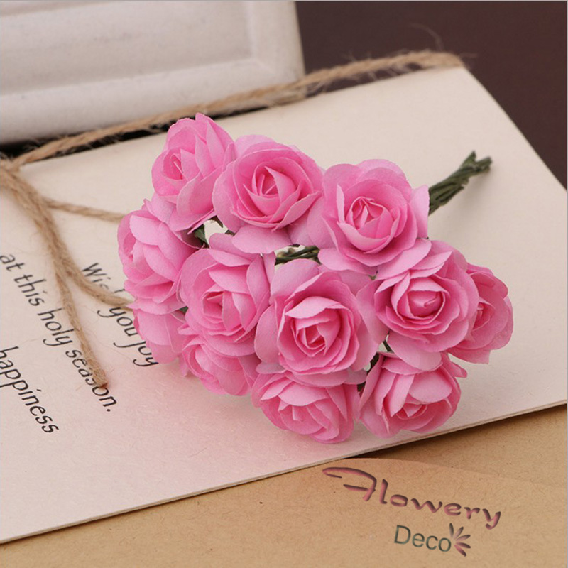 Luxury how to make rose flower with tissue paper frieze best 2cm rose 144pcslot tissue paper scrapbooking fake artificial flower mightylinksfo