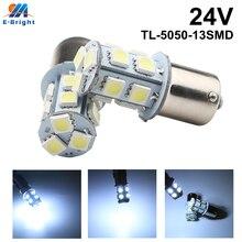 20pcs 24V 5050 13 SMD 1156 BA15S 1157 BAY15D LED Bulbs Auto Car Light Source Off Road Driving Brake Light Turn Signal LED light