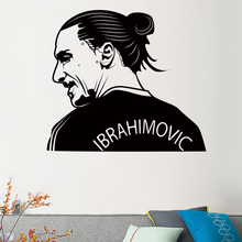 Free Shipping Football Player Zlatan Ibrahimovic sports Art Wall Sticker Home Decor Living Room Bedroom Vinyl Decal