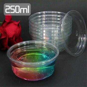 6X de almacenamiento 250ml contenedor caja de organizador para la luz arcilla Playdough de Slime, lodo