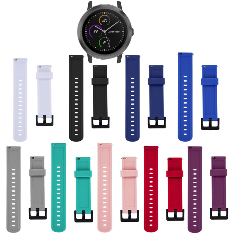 Fashion Soft Silicone Watch Strap Band For Garmin Vivoactive 3 Replacement New Sports Bracelet 20mm Wrist Band Strap Unisex 2019