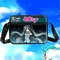 Vocaloid Hatsune Miku Anime Cosplay Messenger Bag PU dos desenhos animados Unisex estudantes livro bolsa de ombro