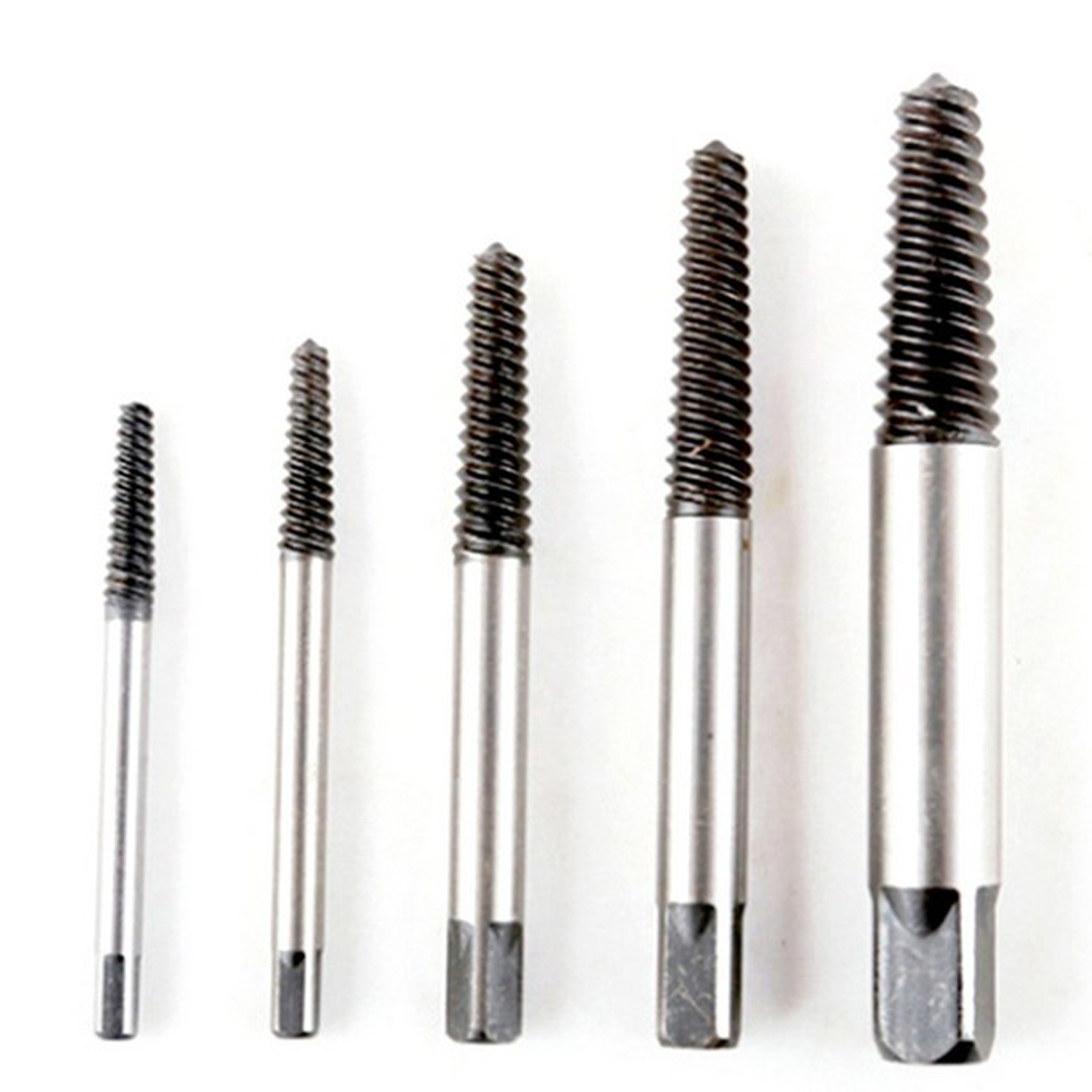 5pcs/set  Carbon Steel Screw Extractor Broken Bolt Remover Drill Guide Bits Set High Quality