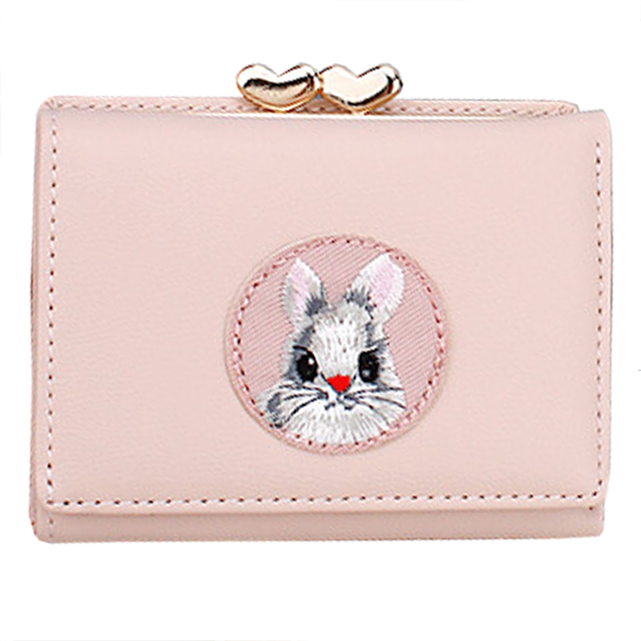 Kawaii Cartoon Animal Woman Wallet Korean Style Woman Credit Card Holders Cute Students Clip Wallets Purse Fashion Female Wallet