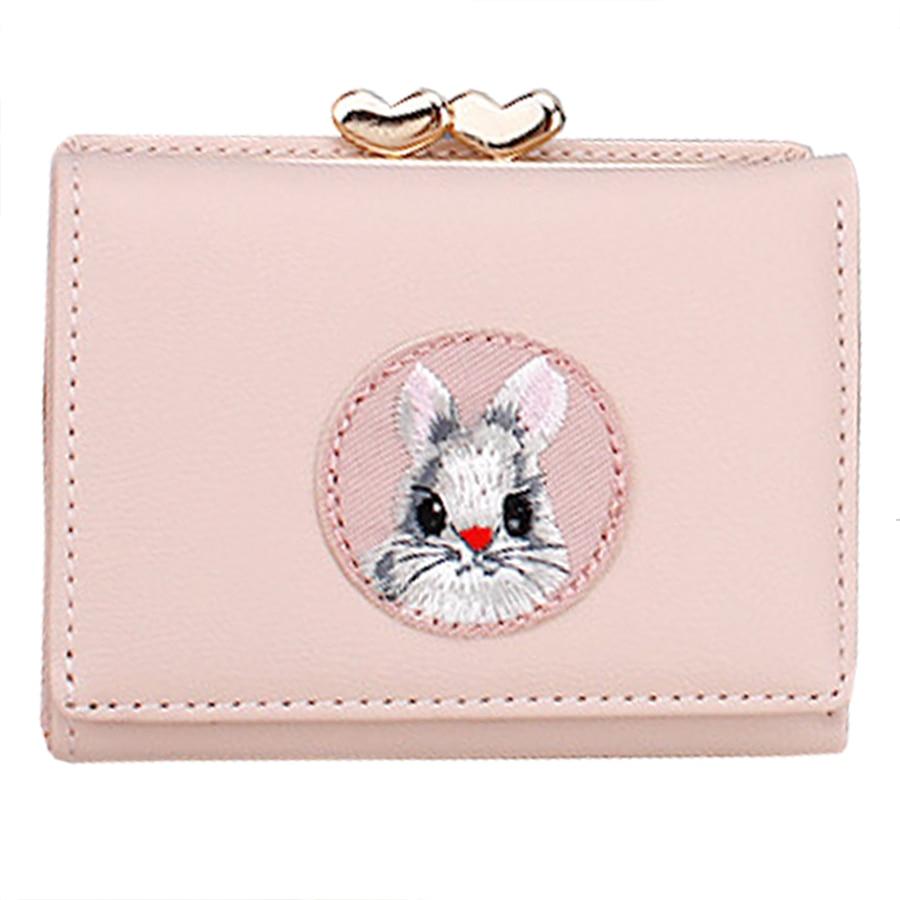 Kawaii Cartoon Animal Woman Wallet Korean Style Woman Credit Card Holders Cute Students Clip Wallets Purse Fashion Female Wallet