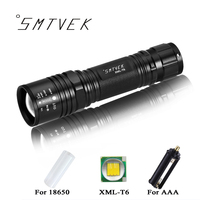 NEW Super Bright 3800 LM CREE T6 Powerful LED Flashlight Outdoor 5 Mode Zoomable Waterproof Lamp