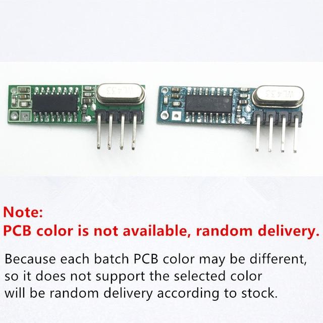 1 ensemble RF module 433 Mhz superhétérodyne récepteur et transmetteur kit avec antenne pour Arduino uno bricolage kits 433 mhz télécommande 4