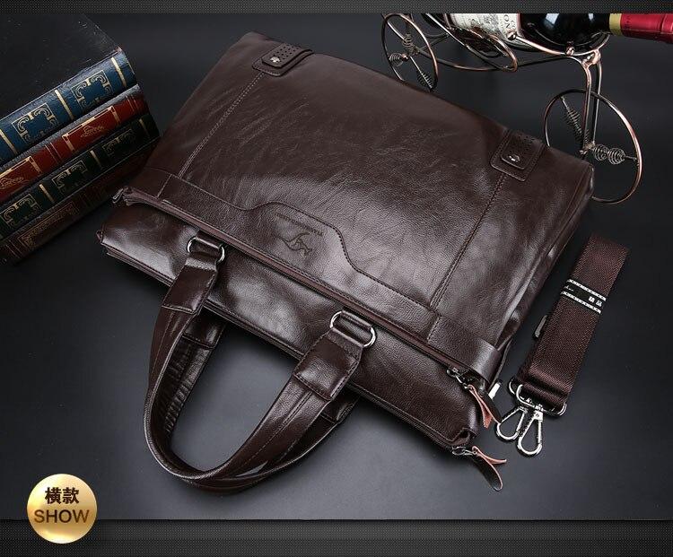 ZYJ Men\`s Business Leather Shoulder Laptop Briefcase Bags Sling Travel Messenger Portfolio Bag Causal Bolsa Lawer Handbag (11)