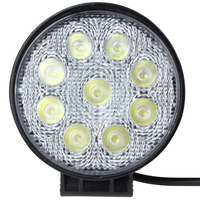 4 Inch 1600LM 27W Auto Car LED Spot Work Light Waterproof Round Worklight Lamp For Truck