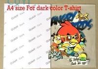 Atramentowych ciemny kolor sublimacji papier przenikania ciepła dla bawełnianej Koszulce 100 sztuk A4 rozmiar
