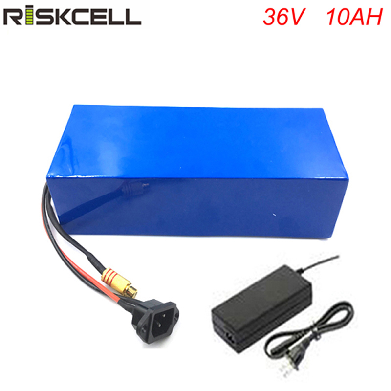 Free customs taxes and shipping 36v 10ah lithium ion battery for eclctric bike with 36v 8fun bbs02 350w 500w motor with charger