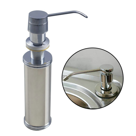 Shivers 5659 0 Stainless Steel Liquid Soap Dispenser Deck Mounted Hand Liquid Lotion Dispenser Using