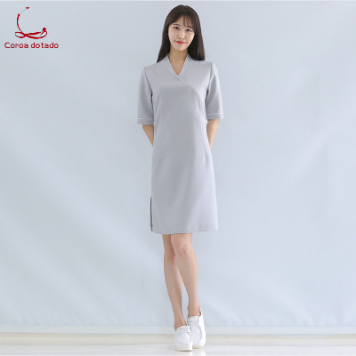 New summer beautician dress work clothes salon clothing stretch slimming spa beauty salon uniform