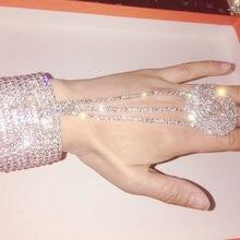 Ювелирные изделия для костюма, золотые, серебряные стразы, тянущийся браслет, вечерние, для невесты, нарукавник, много стилей