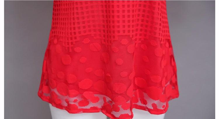HTB1ZgkDJXXXXXbIXXXXq6xXFXXXd - 3/4 Sleeve Lace Blouse Hollow Out Women Summer Blouses Shirts