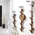 Criativo quarto porta de entrada cabide cabide rack simples europeu pendurado na parede roupas gancho casaco 6/8/10 ganchos