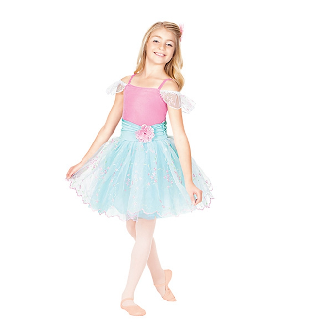 Robe de ballerine enfants danse costume professionnel costumes de broderie