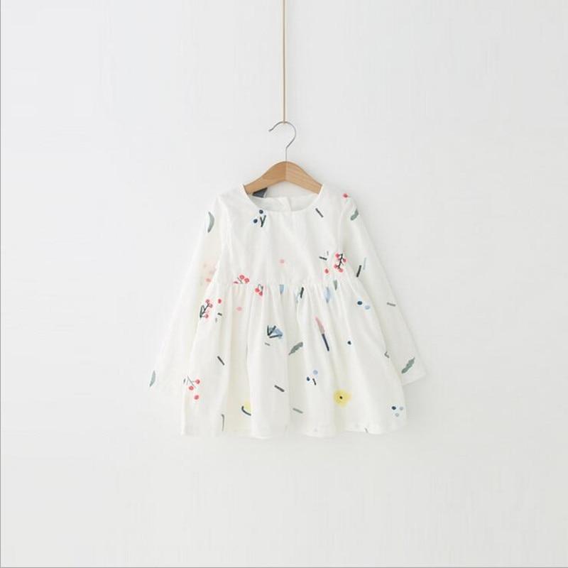 Zomerjurk 2018 baby meisje lente lange mouw jurk topkwaliteit katoen - Kinderkleding