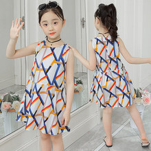 Summer Dress 2019 Striped Pattern Girls 100% Cotton Sleeveless Princess Dresses O-neck Girls Dress 4 5 7 9 10 to 12 Years Old girls dress striped sleeveless ruffles kids dresses o neck tops tank children clothes summer 2018 size 9 10 11 12 13 14 years