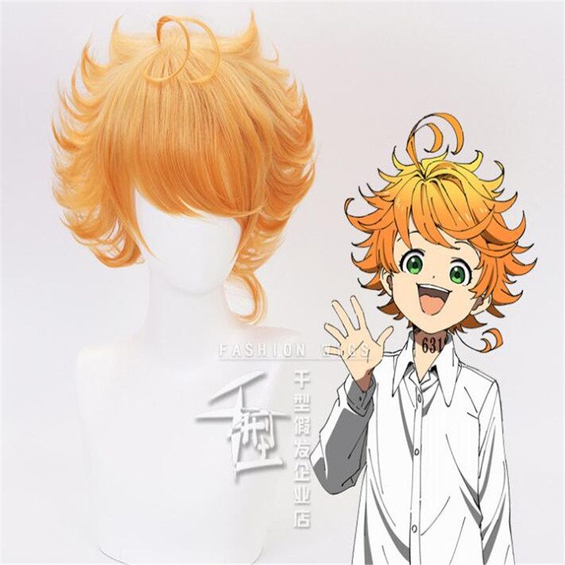 Emma Cosplay Parrucca Anime Yakusoku No Neverland Donne Arancione Cosplay Parrucca Il Promesso Neverland Emma Cosplay A784