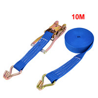 UXCELL Truck S Shaped Metal Hook Polypropylene Fiber Luggage Rope Cord 10M Blue