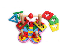New Wooden toys educational early education of infants DIY toy Free shipping