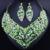 Joyería de moda Africana Beads Rhinestones Llenos de Forma de la Hoja Pendientes Del Collar Exquisito Cristalino de La Joyería Nupcial