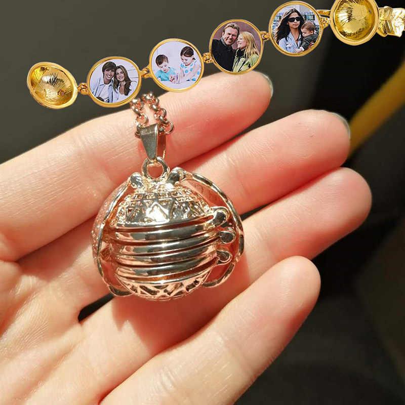 2019 винтажные Крылья Ангела волшебные персонализированные фото подвеска ожерелья креативная длинная альбомная коробка ожерелья ювелирные изделия дропшиппинг подарок
