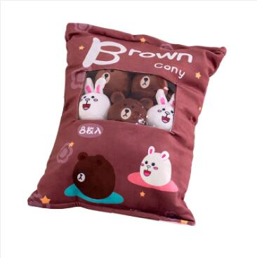WYZHY Creative snacks plush toys a bag of 8 sofa bedroom ornaments to send friends and children gifts 50X38CM
