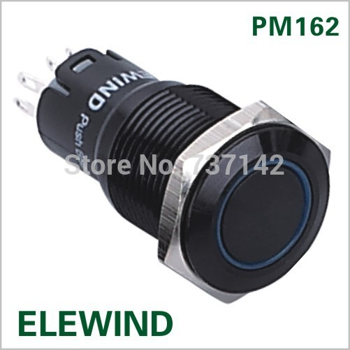 (Hot !) 16mm IP67 push button switch With circle light(PM162F-11ZE/B/12V/A/IP67,CE,ROHS) 16mm stainless steel latching on off power push button switch pm162f 11zet b 12v s ip67