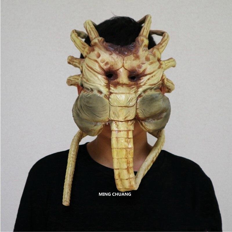 Aliens vs Predator-Requiem Facehugger Masque 1:1 (TAILLE RÉELLE) capuchon de retenue AVP Figurine À Collectionner Modèle Jouet D'OPP D615