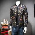 2016 New Winter Jackets Men Stand Collar Print Feather Cotton Down Jacket Brand Plus Size 3XL 4XL 5XL Men Winter Coat Men Jacket