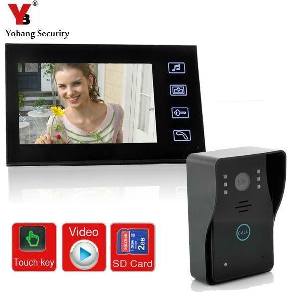 Yobangsecurity 9 Inche Video Doorbell Door Chime Video Door Intercom System With Video Recording And Phototaking Door Lock Video Intercom
