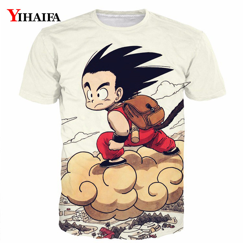 3D Print T shirt Men Kid Goku Son Dragon Ball Z Graphic Tees Anime Cartoon Casual Tee Shirts Round Neck Summer Tops(China)