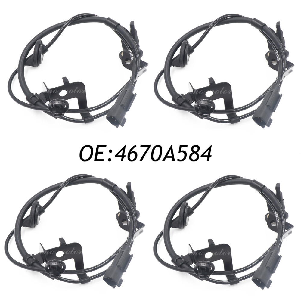 New 4pcs Rear Right ABS Wheel Speed Sensor for Mitsubishi 4WD Outlander Lancer 07-12 4670A584 4670A158 5S11164 ALS1550 free shipping oe 8971323071 abs good quality front right sensor wheel speed for isuzu
