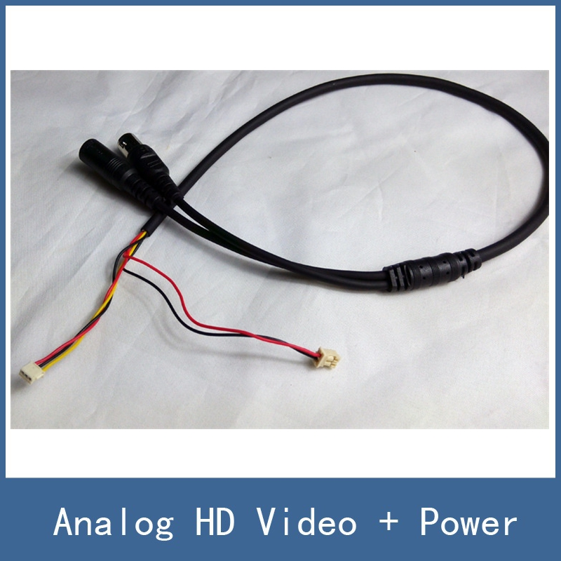 High Quality Simple CCTV AHD / CCD Camera Module Board Cable / Line , Analog HD Video + Power Supply Port , Free Shipping autoeye cctv camera power adapter dc12v 1a 2a 3a 5a ahd camera power supply eu us uk au plug