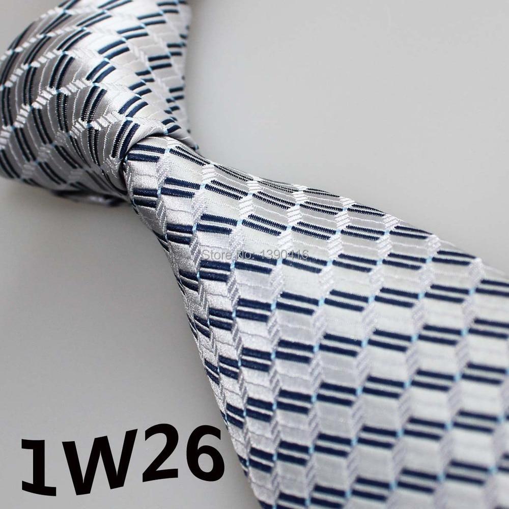 2018 Latest Style Neckties Silver White/white/dark Blue Striped Design/casual Dress/men Shirt/men's Accessories/vestido De Festa Elegant Appearance