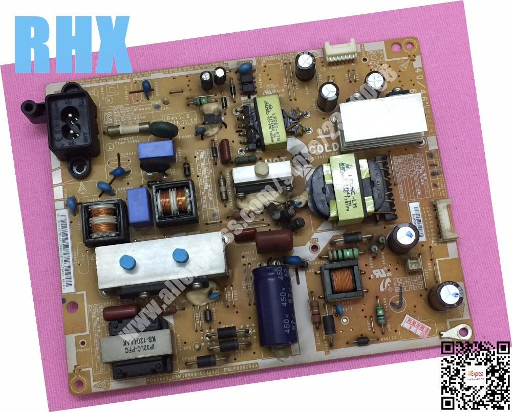 for samsung LCD TV UA40EH5300R power supply board PD46AV1_CSM BN44-00498A PSLF930C04A PD46AV1-CSM is used lcd tv power driver board lk37k1 special number 0094001295b used disassemble