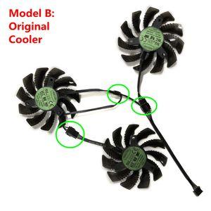PLD08010S12HH/T128010SU GTX 1080/1070Ti/1060 75 мм охлаждающий вентилятор GPU для GIGABYTE GTX1080Ti GTX1070 GTX980 R9 охлаждающие карты FURY